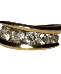 5-Stone Diamond Band outline