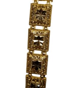 Square Filigree Yellow Gold Bracelet outline