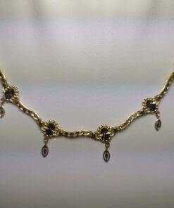Two-Tone Gold Diamond-Cut Necklace front view