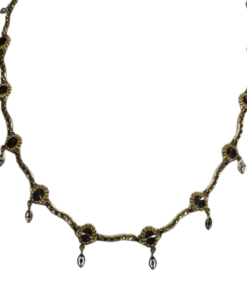 Two-Tone Gold Diamond-Cut Necklace outline